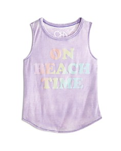 CHASER Girls' On Beach Time Distressed Muscle Tee - Little Kid, Big Kid - Bloomingdale's_0
