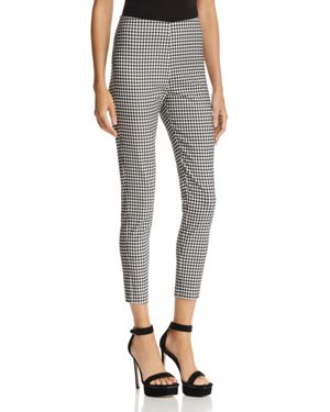 LUCY PARIS MADELINE GINGHAM SKINNY PANTS