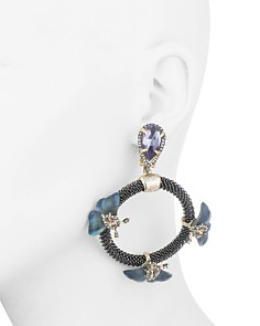 Alexis Bittar - Floral Chain Loop Clip-On Drop Earrings