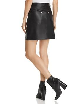 rag & bone/JEAN - Moss Leather Mini Skirt