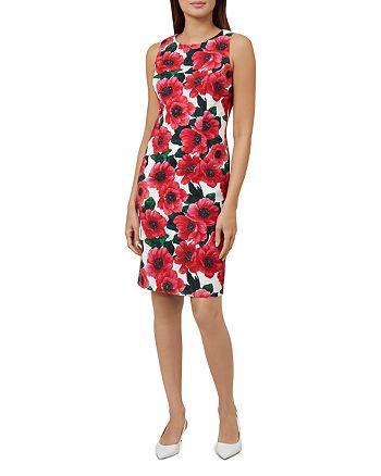 HOBBS LONDON - Moira Floral Print Sheath Dress