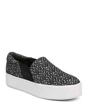 Women'S Warren Knit Platform Sneakers in Black/White
