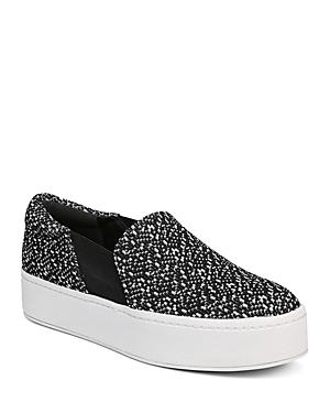New Vince Women'S Warren Knit Platform Sneakers, Sneakers, Black/White