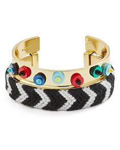 BAUBLEBAR Etana Sequined & Woven Open Cuff Bracelets - Bloomingdale's_0