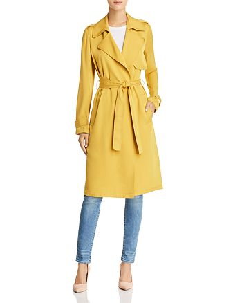 2092d5689a Theory Oaklane Silk Trench Coat | Bloomingdale's