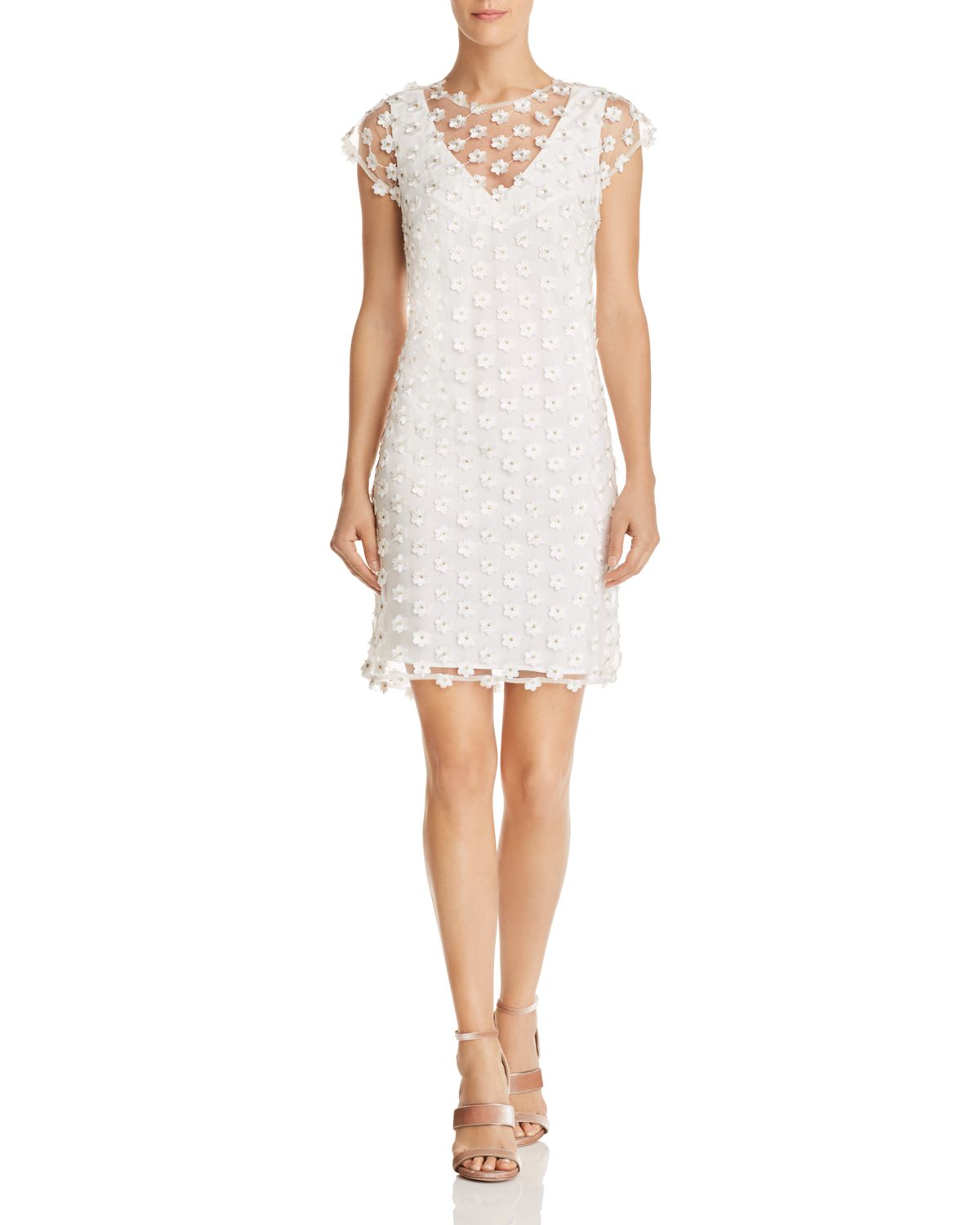 Floral Appliqué Shift Dress by Nanette Nanette Lepore