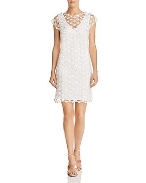 nanette Nanette Lepore Floral-Applique Shift Dress