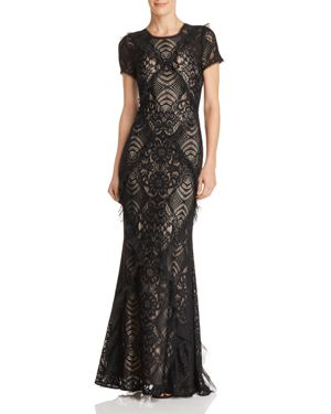 EMBELLISHED LACE GOWN