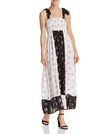 AQUA - Color-Block Floral Print Maxi Dress - 100% Exclusive