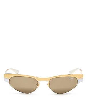 Vogue Eyewear Gigi Hadid for Vogue Mirrored Wrap Cat Eye Sunglasses, 51mm