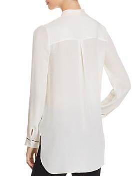 Elie Tahari - Sydney Pleated Silk Tunic