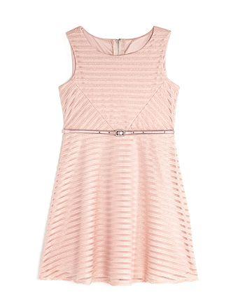 10ade15639 US Angels Girls' Mesh Glitter-Striped Dress - Little Kid ...
