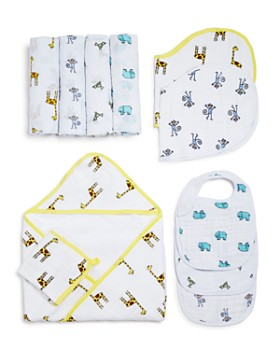 Aden and Anais - Jungle Jams Swaddles, Bibs & Hooded Towel