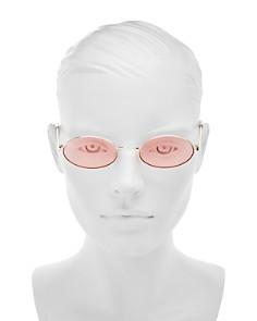 Le Specs - Women's Love Train Oval Sunglasses, 51mm