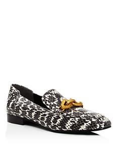 Tory Burch - Women's Jessa Snakeskin Loafers