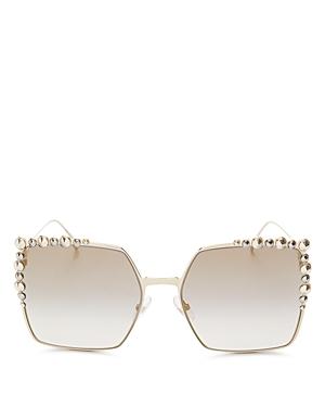 Fendi Women's Embellished Oversized Square Sunglasses, 60mm