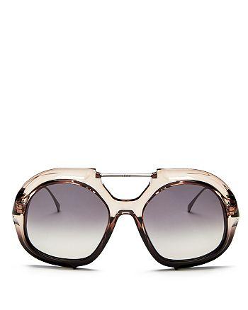 c90952cd550de Fendi - Women s Brow Bar Round Sunglasses