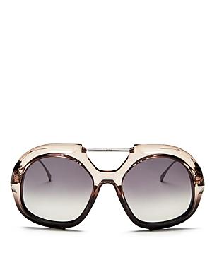 Fendi Women's Brow Bar Round Sunglasses, 55mm