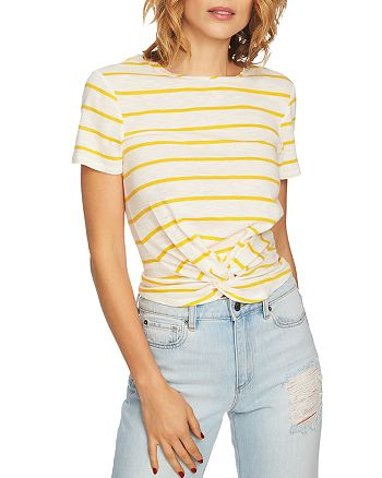 1.STATE - Striped Twist-Front Tee