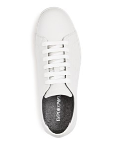 Armani - Men's Lace-Up Leather Sneakers