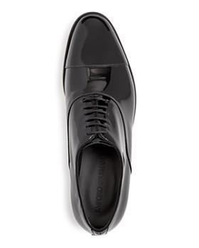 Armani - Men's Patent Leather Cap Toe Oxfords