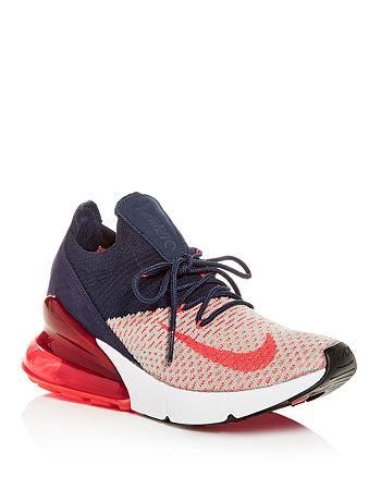 Nike Women's Air Max 270 Flyknit Lace Up Sneakers