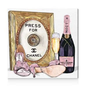 Oliver Gal Champagne Cocktail Canvas Art, 24 x 24