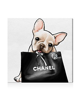 "Oliver Gal - Frenchie Glam Canvas Art, 30"" x 30"""