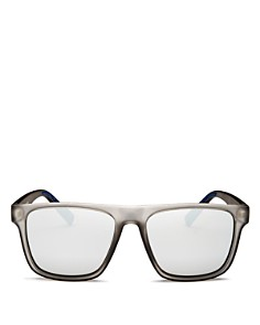 Le Specs - Men's The Boss Mirrored Flat Top Square Sunglasses, 56mm
