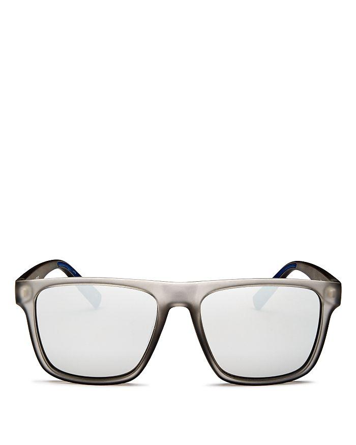 Le Specs - Men's The Boss Mirrored Flat Top Square Sunglasses, 56mm
