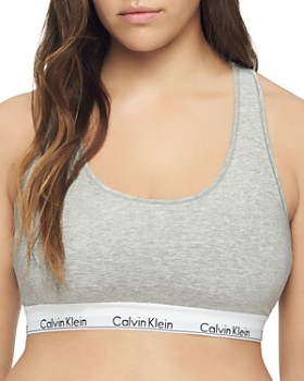 4d6d636face3d5 Calvin Klein - Plus Modern Cotton Unlined Racerback Bralette ...
