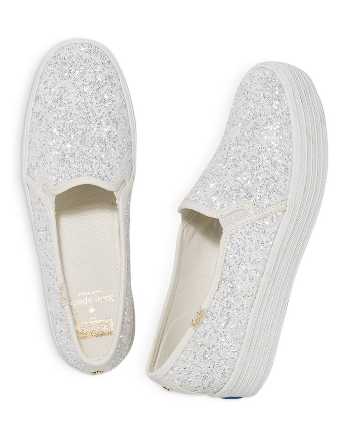684bf7265156 Keds - x kate spade new york Women s Triple Decker Glitter Canvas Slip-On  Sneakers