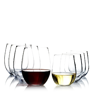 Riedel O Cabernet & O Chardonnay Wine Glasses, Set of 8