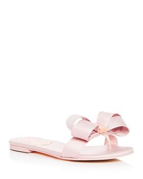 Ted Baker - Women's Beauita Satin Bow Thong Sandals