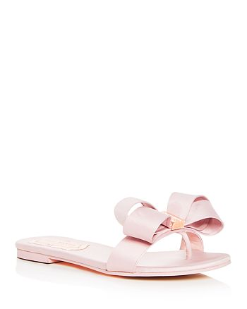 151847902ab6 Ted Baker - Women s Beauita Satin Bow Thong Sandals