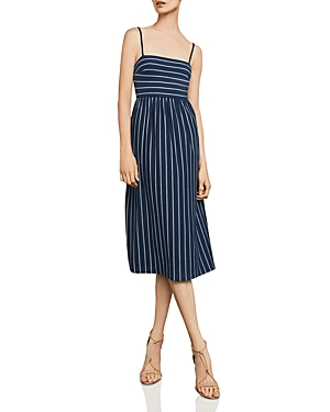 Bcbgmaxazria Twist-Back Striped Midi Dress