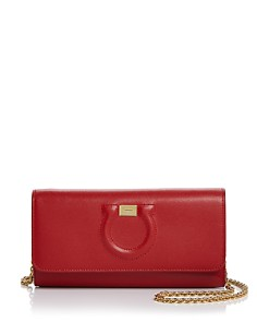 Salvatore Ferragamo - Gancio City Calfskin Wallet on Chain