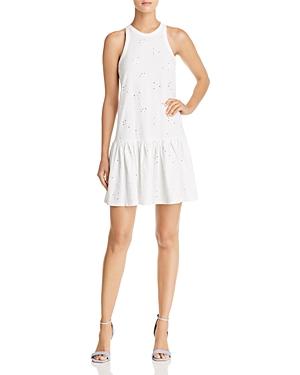 Rebecca Taylor Eyelet Jersey Drop-Waist Dress