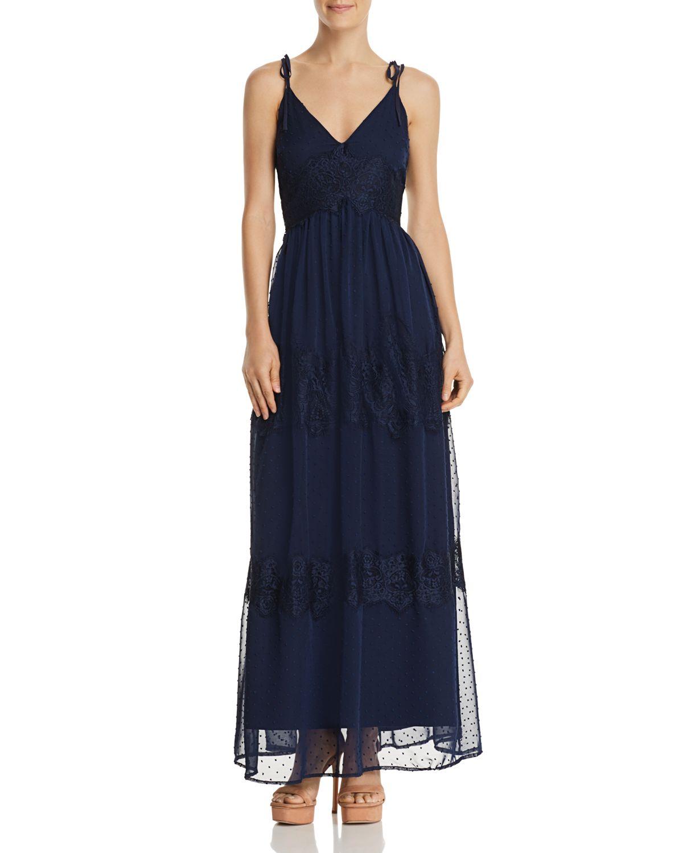 Sale alerts for  Swiss Dot & Lace Maxi Dress - 100% Exclusive - Covvet