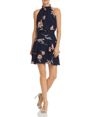 Garden Variety Floral Popover Dress in Oil Slick