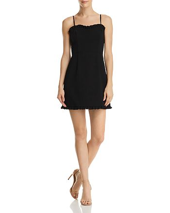 FRENCH CONNECTION - Whisper Ruth Ruffled Mini Dress