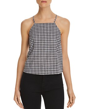 Honey Punch - Gingham Button-Back Top
