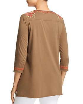 Johnny Was - Elim Embroidered Draped Top