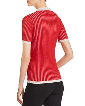 Burberry - Yellowstone Ribbed Short-Sleeve Sweater