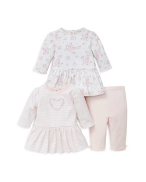 Little Me Girls' Rose-Print Dresses & Leggings Set - Baby 2975380