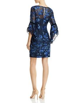 Aidan Mattox - Bell-Sleeve Lace Dress