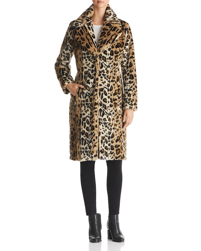 7faef54b8360 Kendall + Kylie KENDALL and KYLIE Leopard Print Faux Fur Coat ...