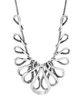 "JOHN HARDY - Sterling Silver Classic Chain Bib Necklace, 16"""