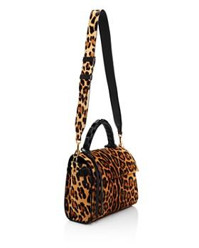 ELENA GHISELLINI - Small Leopard Calf Hair Top Handle Satchel