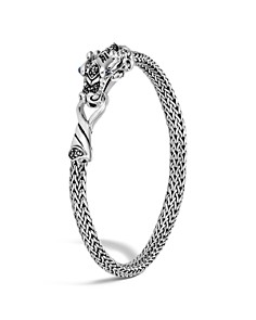 John Hardy Sterling Silver Legends Naga Extra Small Chain Bracelet with Blue Sapphire Eyes - Bloomingdale's_0